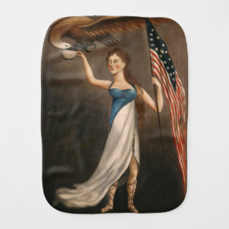 Liberty Woman Eagle American Flag USA Freedom Burp Cloth