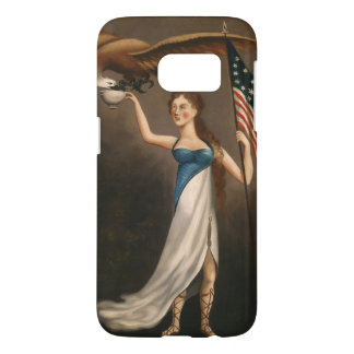 Liberty Woman Eagle American Flag USA Samsung Galaxy S7 Case