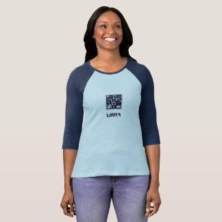 Libra Astrology Zodiac Sign Blue Shirt Women