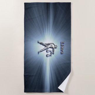 Libra chrome symbol beach towel