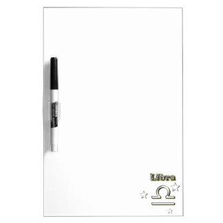 Libra chrome symbol dry erase board