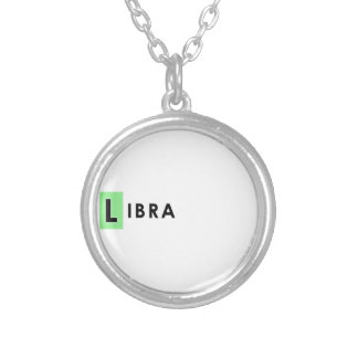 LIBRA COLOR SILVER PLATED NECKLACE