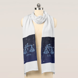 Libra Constellation and Zodiac Sign with Stars Scarf