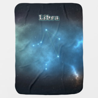 Libra constellation baby blanket