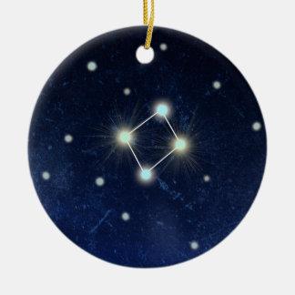 Libra Constellation | Custom Name Ceramic Ornament