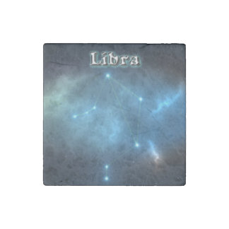 Libra constellation stone magnets