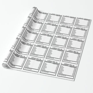 LIBRA FACTS DISCRIPTION . WRAPPING PAPER
