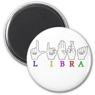 LIBRA FINGERSPELLED ASL NAME ZODIAC SIGN MAGNET