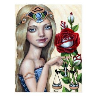 Libra Girl Postcard