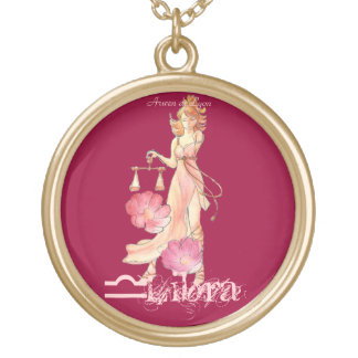 Libra Gold Plated Necklace