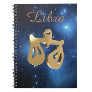 Libra golden sign notebooks