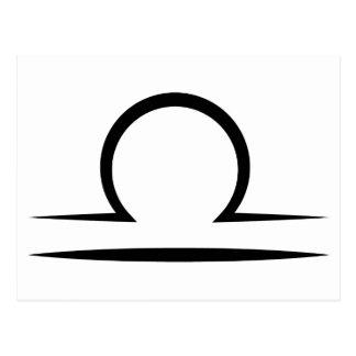 libra greek zodiac astrology horoscope symbol postcard