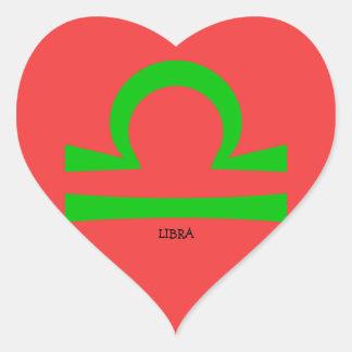 Libra Heart Sticker