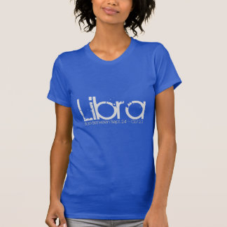 Libra Horoscope Tee-shirt In Sapphire Blue T-Shirt