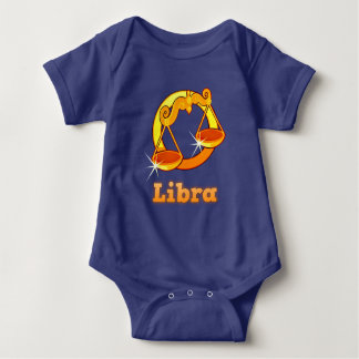 Libra illustration baby bodysuit