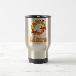 Libra illustration travel mug