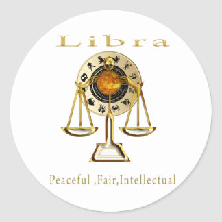Libra products classic round sticker