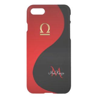 Libra Red and Black Monogram iPhone 7 Case