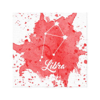 Libra Red Wall Art