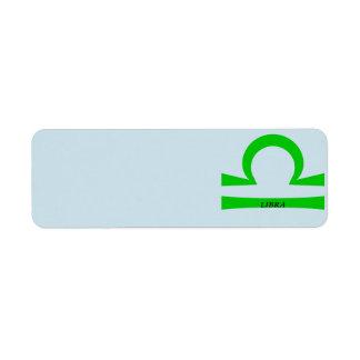 Libra Return Address Label