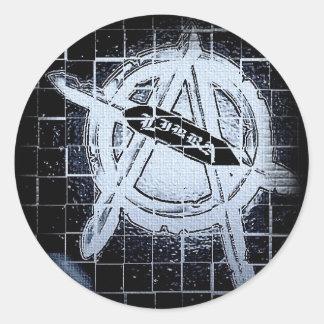 Libra Round Bumper/Window Sticker