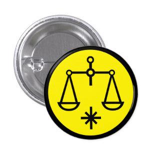 Libra Scales Horoscope Sign Zodiac Symbol Button