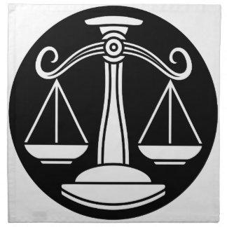 Libra Scales Zodiac Horoscope Sign Napkin