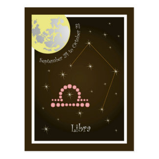 Libra September 24 tons of October 23 postcard