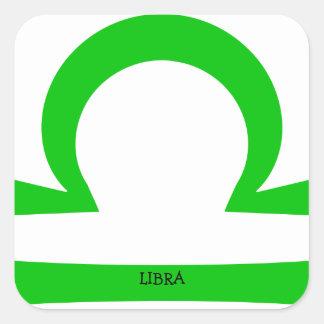 Libra Square Sticker