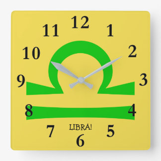 Libra Square Wall Clock