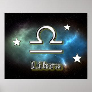 Libra symbol poster