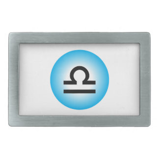 LIBRA SYMBOL RECTANGULAR BELT BUCKLES