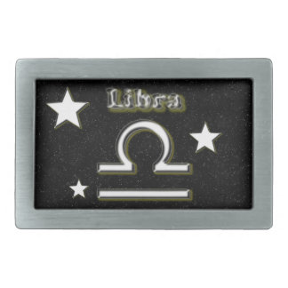 Libra symbol rectangular belt buckles