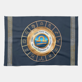 Libra - The Scales Astrological Sign Kitchen Towel