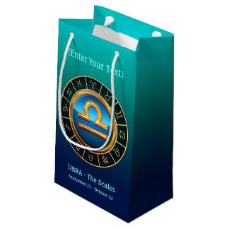 Libra - The Scales' Horoscope Symbol Small Gift Bag