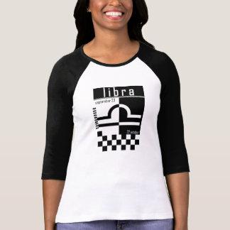 Libra Two-Tone Zodiac Baseball T-Shirt. T-Shirt