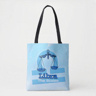 Libra zodiac astrology air sign blue bag
