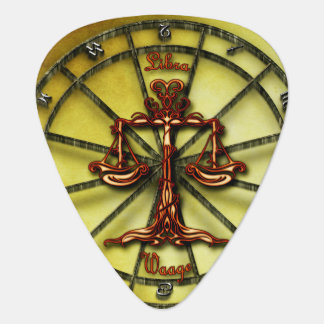Libra Zodiac Astrology design Horoscope Guitar Pick