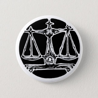 Libra - Zodiac Badge 2 Inch Round Button