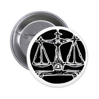 Libra - Zodiac Badge 2 Inch Round Button