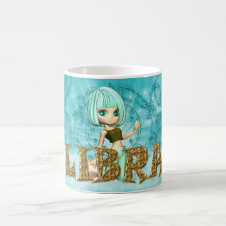 Libra Zodiac Birthday card with cutie pie Aquamari Coffee Mug