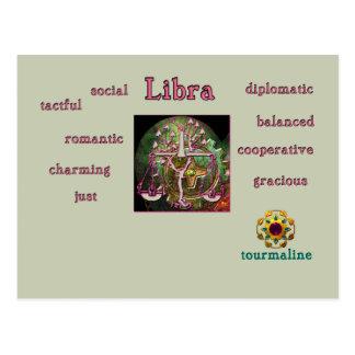 Libra zodiac characteristics postcard
