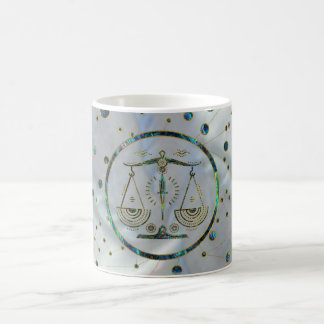 Libra Zodiac Gold Abalone on Constellation Coffee Mug