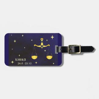 Libra zodiac luggage Tag