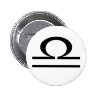 Libra Zodiac Sign Pinback Button