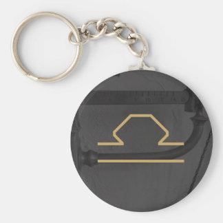 Libra Zodiac Sign | Custom Background Basic Round Button Keychain