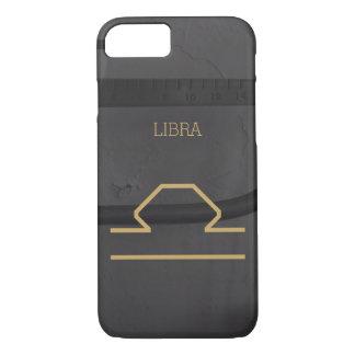 Libra Zodiac Sign | Custom Background + Text iPhone 7 Case