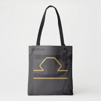 Libra Zodiac Sign | Custom Background Tote Bag