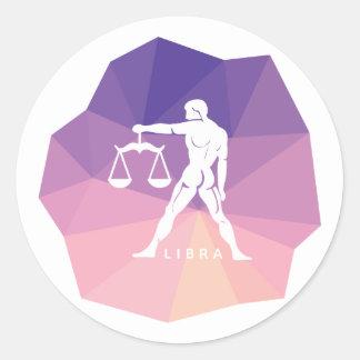 Libra zodiac sign modern design sticker