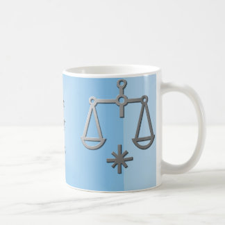 Libra Zodiac Star Sign Silver Blue Tea Coffee Coffee Mug